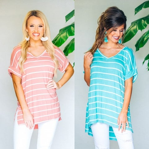 So Sweet Striped Tops