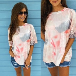 Create Your Happiness Tie Dye Top