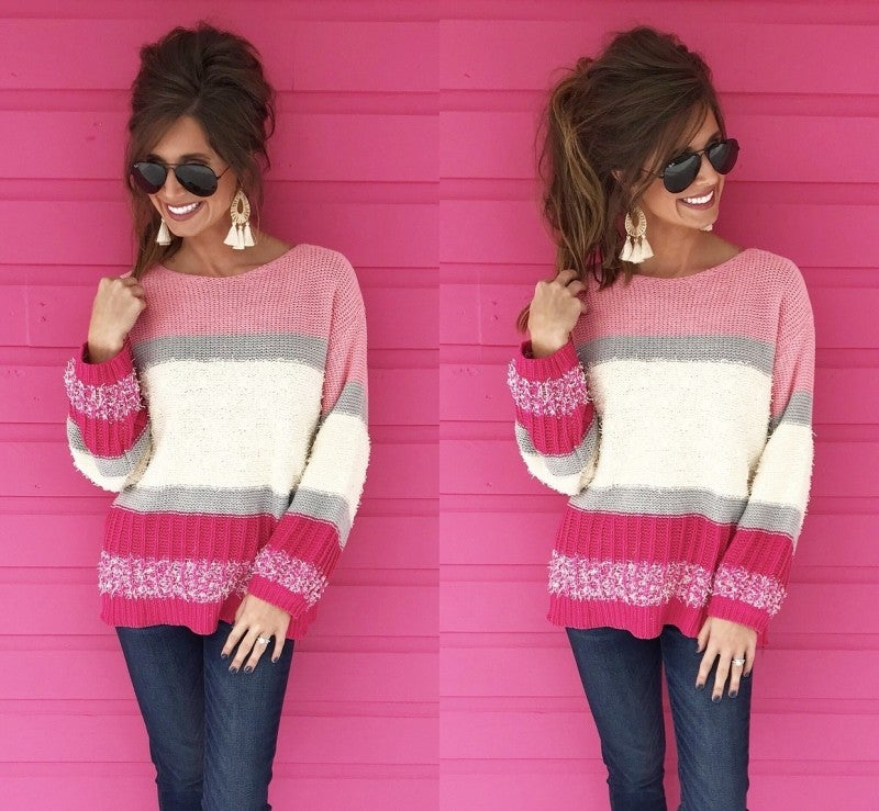 All For Color Pullover- Pink