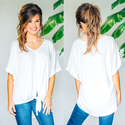Dreaming Of Sunshine Tie Top - Off White