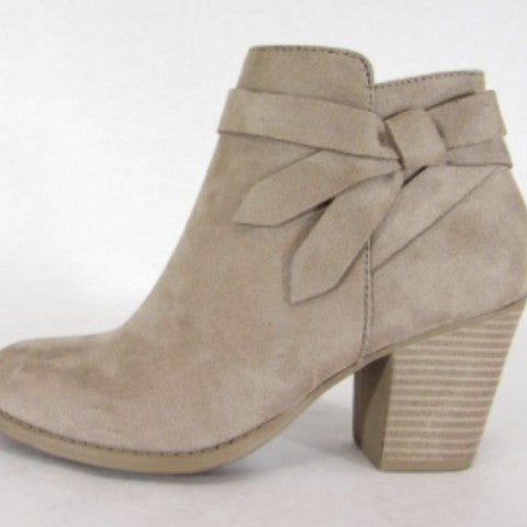 Taupe Bow Booties