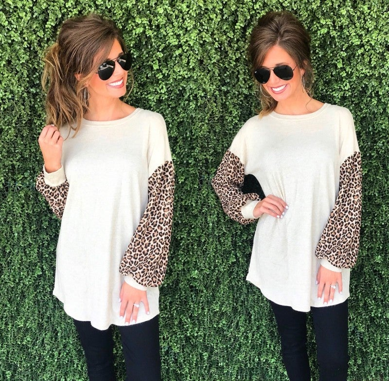 Let's Run Wild Animal Print Top