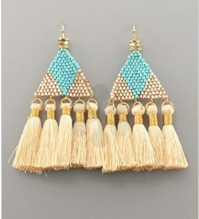 Tiffany Turquoise Triangle Earrings