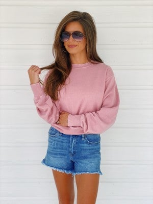 Mauve Pink Crop Top