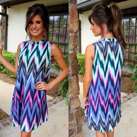 Looking Lovely Printed Sleeveless Dress