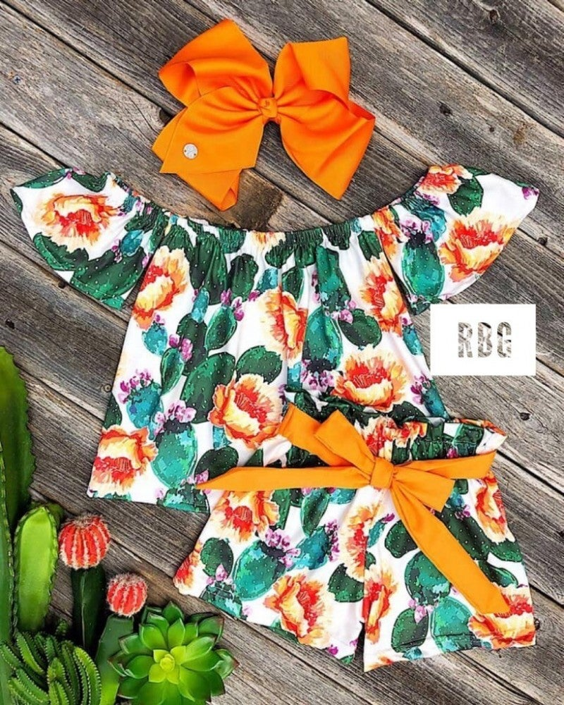 Cheyenne Cactus Off The Shoulder Short Set
