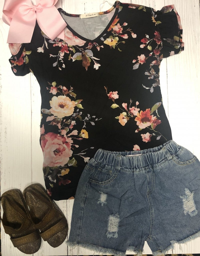 Girls Lola Floral Top