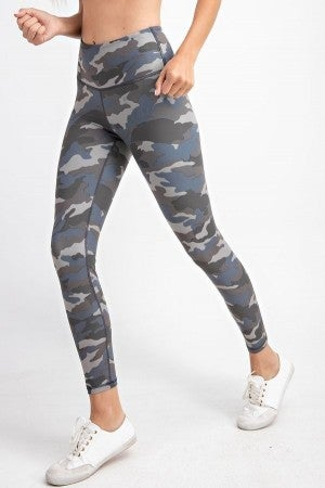 Blue Camouflage Leggings