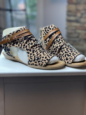 Blowfish Leopard Sandals