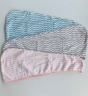 Chevron Twist Turban Hair Towel
