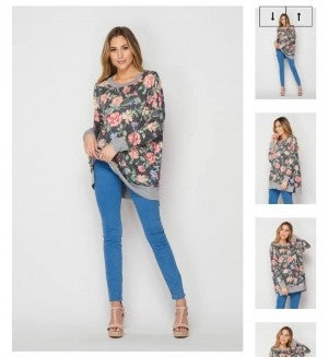 HoneyMe Floral Lounge Top