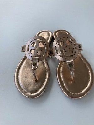 Lulu Heart Sandals- Rose Gold