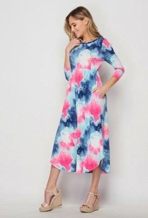 Honey Me Tie Dye Dress *Final Sale*