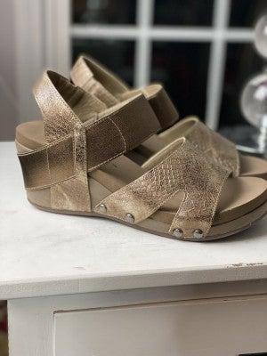 Corky's Bronze Wedge Sandal
