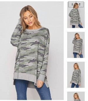 HoneyMe Camo Lounge Top