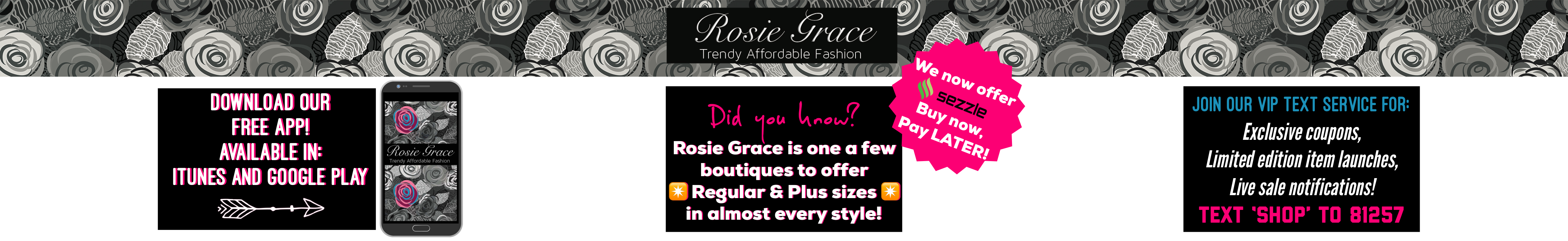 Welcome to Rosie Grace Boutique - Check Out What's New