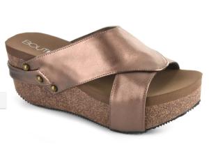 Corkys Bronze Wedge Sandal