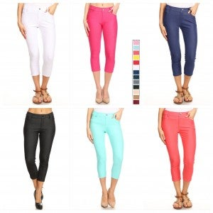 Yelete Stretch Capris - Several colors