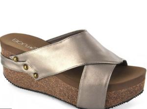 Corkys Pewter Wedge Sandal