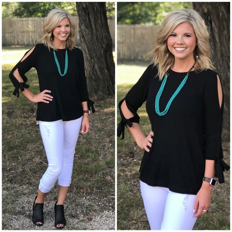 Black Date Night Top