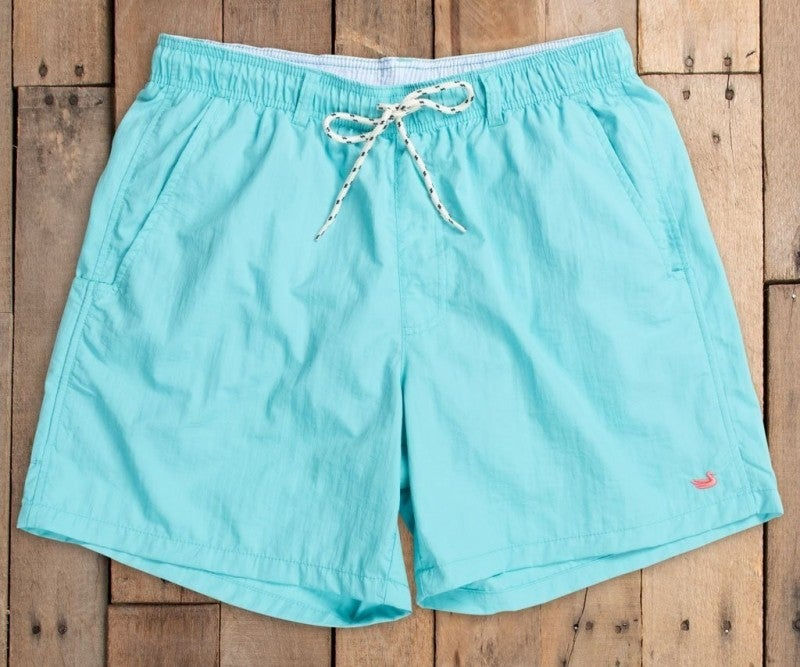 Southern Marsh Dockside Swim Trunk - Aqua Blue