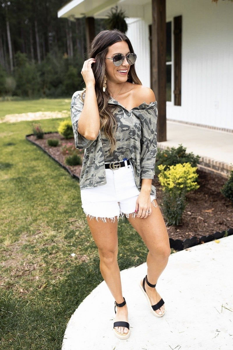 Nothing But Camo Top