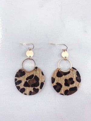 Take On The World Cheetah Earrings