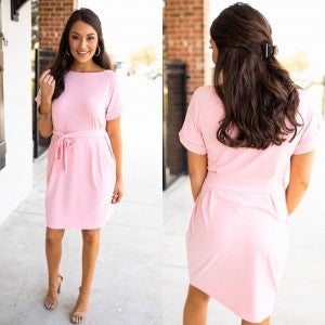 Charming Appeal Dress - Dusty Pink