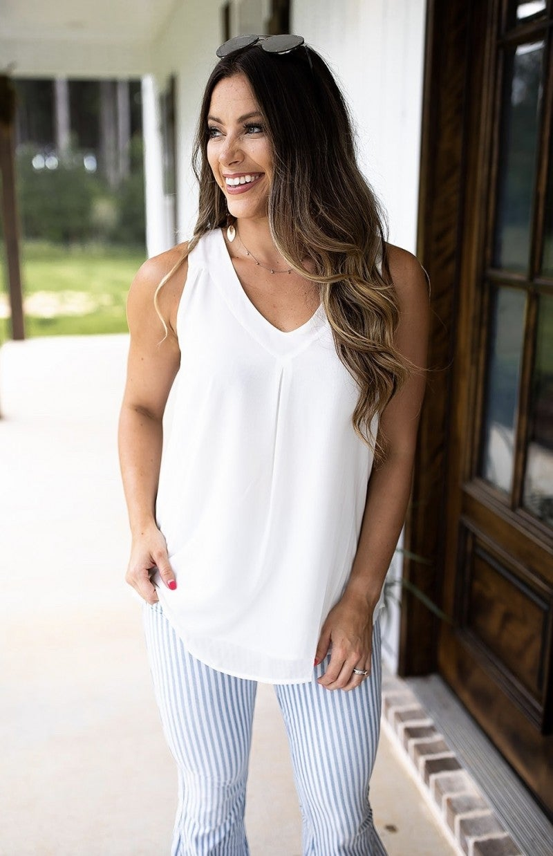 Simple & Easy Top- Ivory- Deal Of The Day