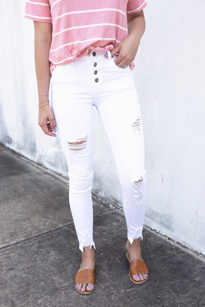 Staycation White Jeans