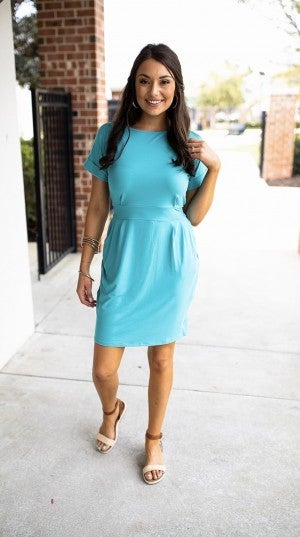 Charming Appeal Dress - Ash Mint