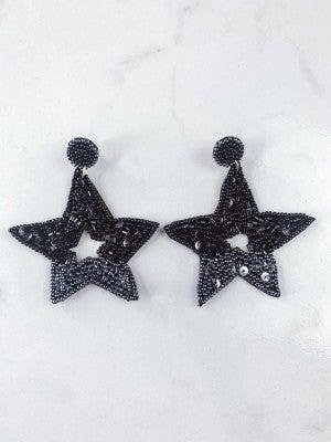 Shining Star Beaded Earrings