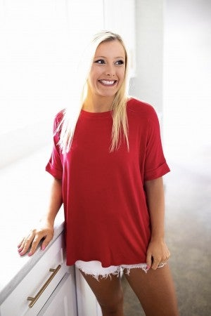Easy Days Top- Red- Deal Of The Day