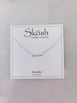 Short Bar Crystal Skosh Necklace