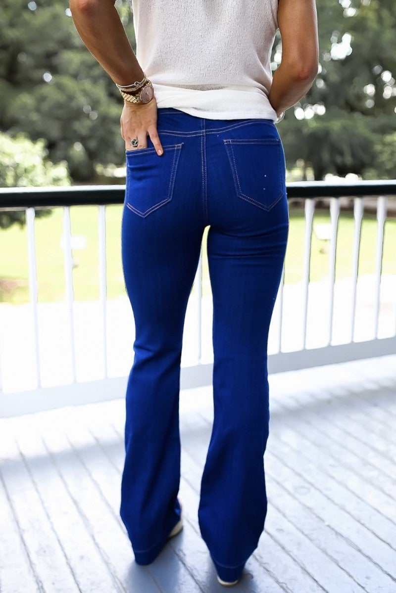 Blue Wash Flare Jeggings