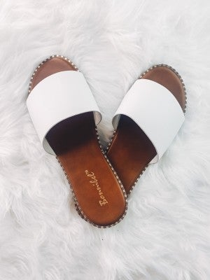 Where You Go Sandals-White