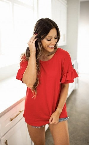 Away On A Jet Top- Red- Deal Of The Day