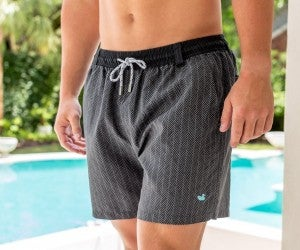 Dockside Swim Trunk - Herringbone