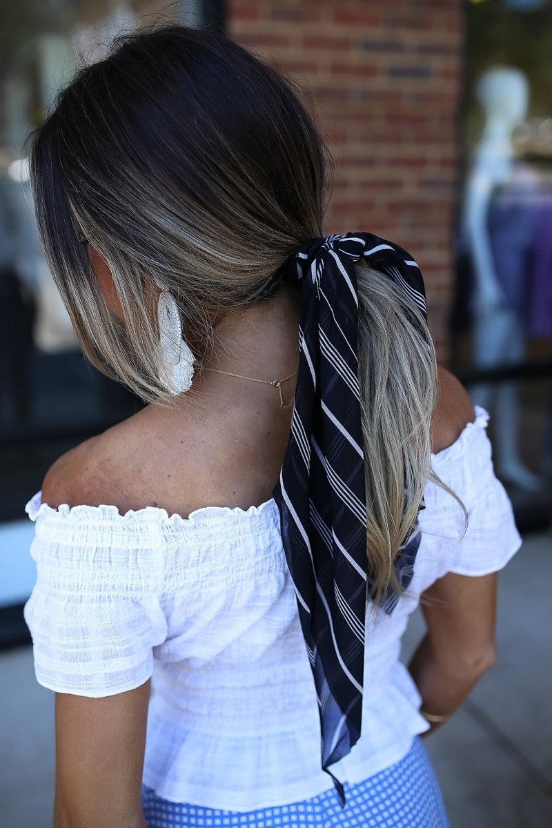 Striped Perfection Scarf Scrunchie