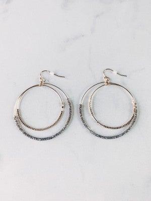 Tell Me Twice Double Hoop Earrings