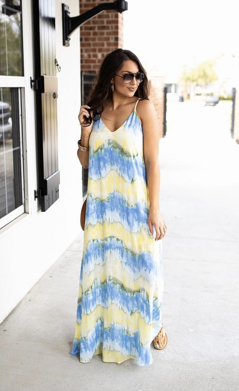 Sailing In Watercolor Dress
