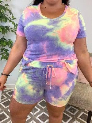 Free Spirited TieDye Lounge Shorts