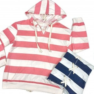 Livin' In The Moment Striped Hoodie