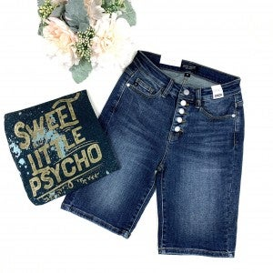 Judy Blue Button Fly Bermudas