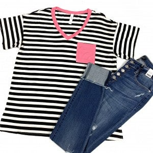 A Matter Of Time Striped Top