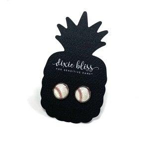 Dixie Bliss Baseball Earrings