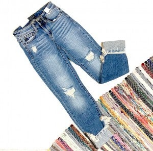 Judy Blue Destroyed Cuffed Jeans