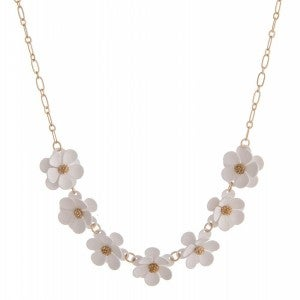 Shimmer Me Daisy Necklace