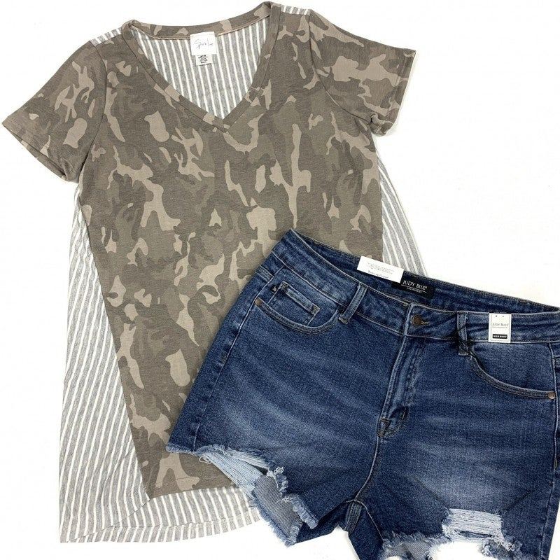 Opposites Attract Camo Top