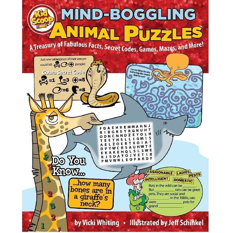Kids Animal Puzzle Book